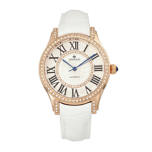 Empress Xenia Automatic Leather-Band Watch - EMPEM2604