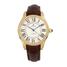Load image into Gallery viewer, Empress Xenia Automatic Leather-Band Watch - Brown - EMPEM2603