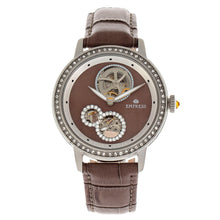 Load image into Gallery viewer, Empress Tatiana Automatic Semi-Skeleton Leather-Band Watch - Brown - EMPEM2903