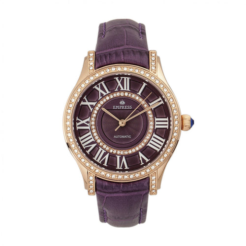 Empress Xenia Automatic Leather-Band Watch - EMPEM2605