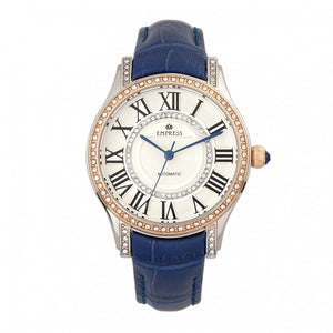 Empress Xenia Automatic Leather-Band Watch - Blue - EMPEM2602