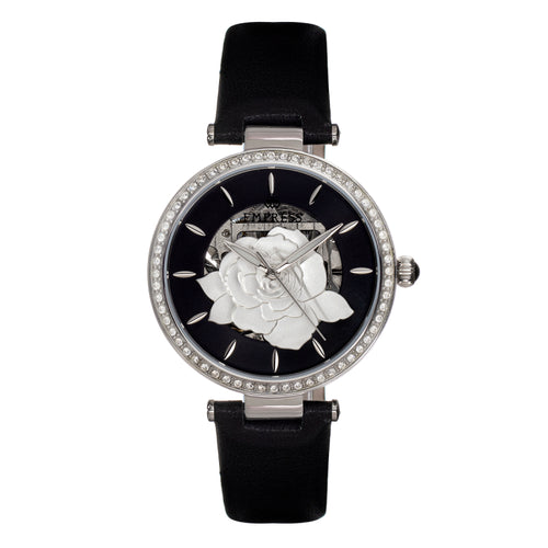 Empress Anne Automatic Semi-Skeleton Leather-Band Watch - EMPEM3101