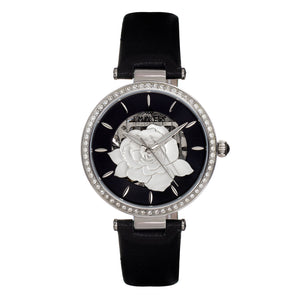Empress Anne Automatic Semi-Skeleton Leather-Band Watch
