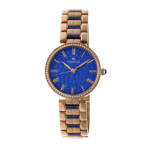 Empress Catherine Automatic Hammered Dial Bracelet Watch - EMPEM1905