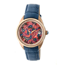 Load image into Gallery viewer, Empress Helena Leather-Band Watch w/Date - Rose Gold/Blue - EMPEM1806