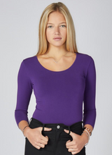 Load image into Gallery viewer, ?id=20011663196318 | C'est Moi - Acai Bamboo 3/4 Sleeve Top | We Shop Local Perth ON