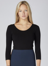 Load image into Gallery viewer, ?id=20011663425694 | C'est Moi - Black Bamboo 3/4 Sleeve Top | We Shop Local Perth ON