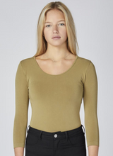 Load image into Gallery viewer, ?id=20509082288286 | C'est Moi - Herb Bamboo 3/4 Sleeve Top | We Shop Local Perth ON