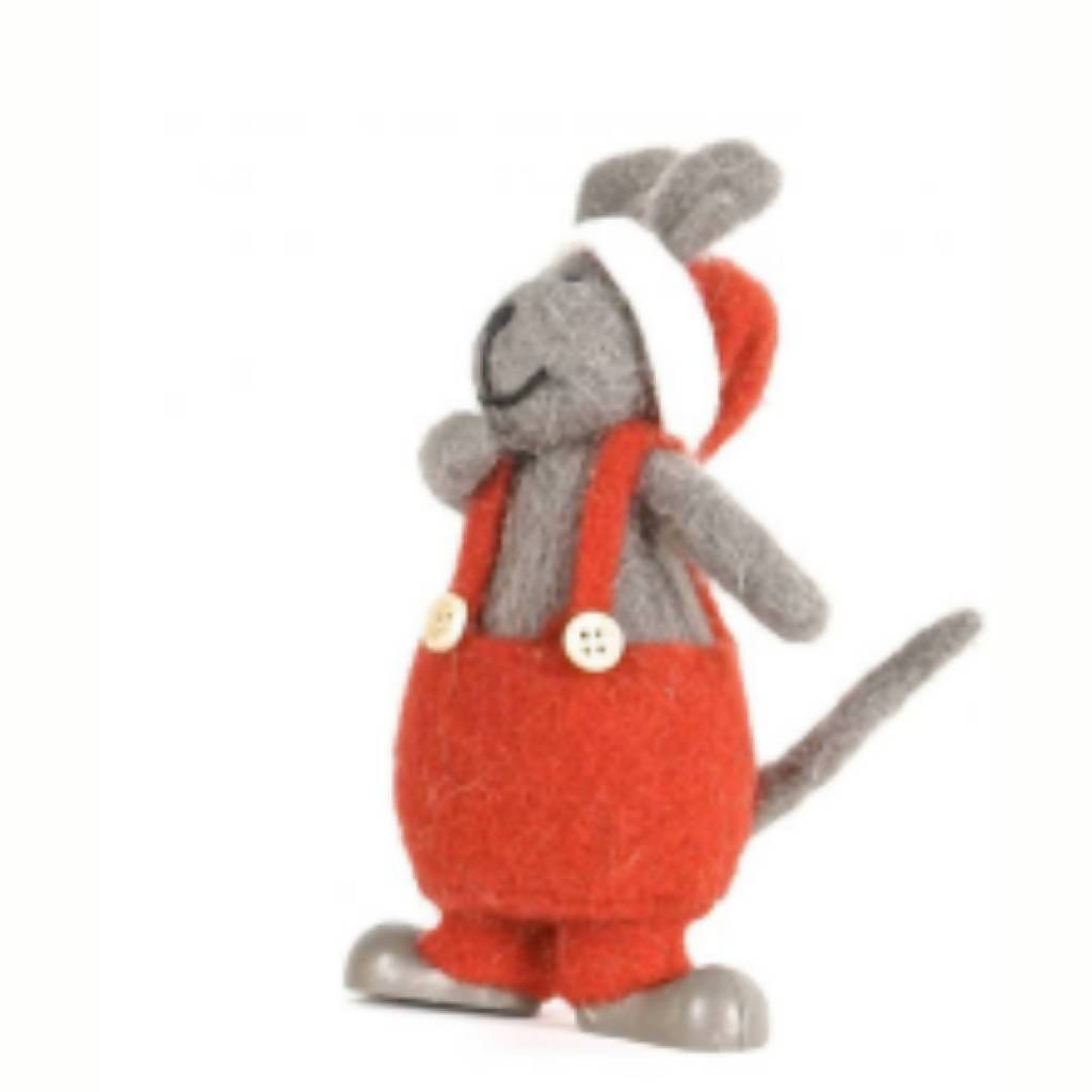 Felt Mouse in Red