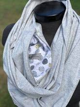 Load image into Gallery viewer, Light Grey Infinity Scarf (Knit)