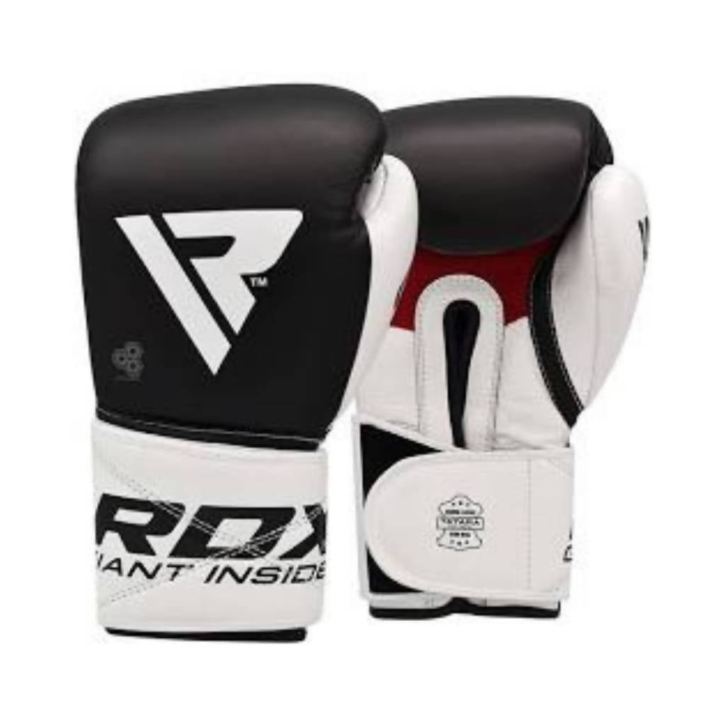 BOXING GLOVES LEATHER S5 BLACK
