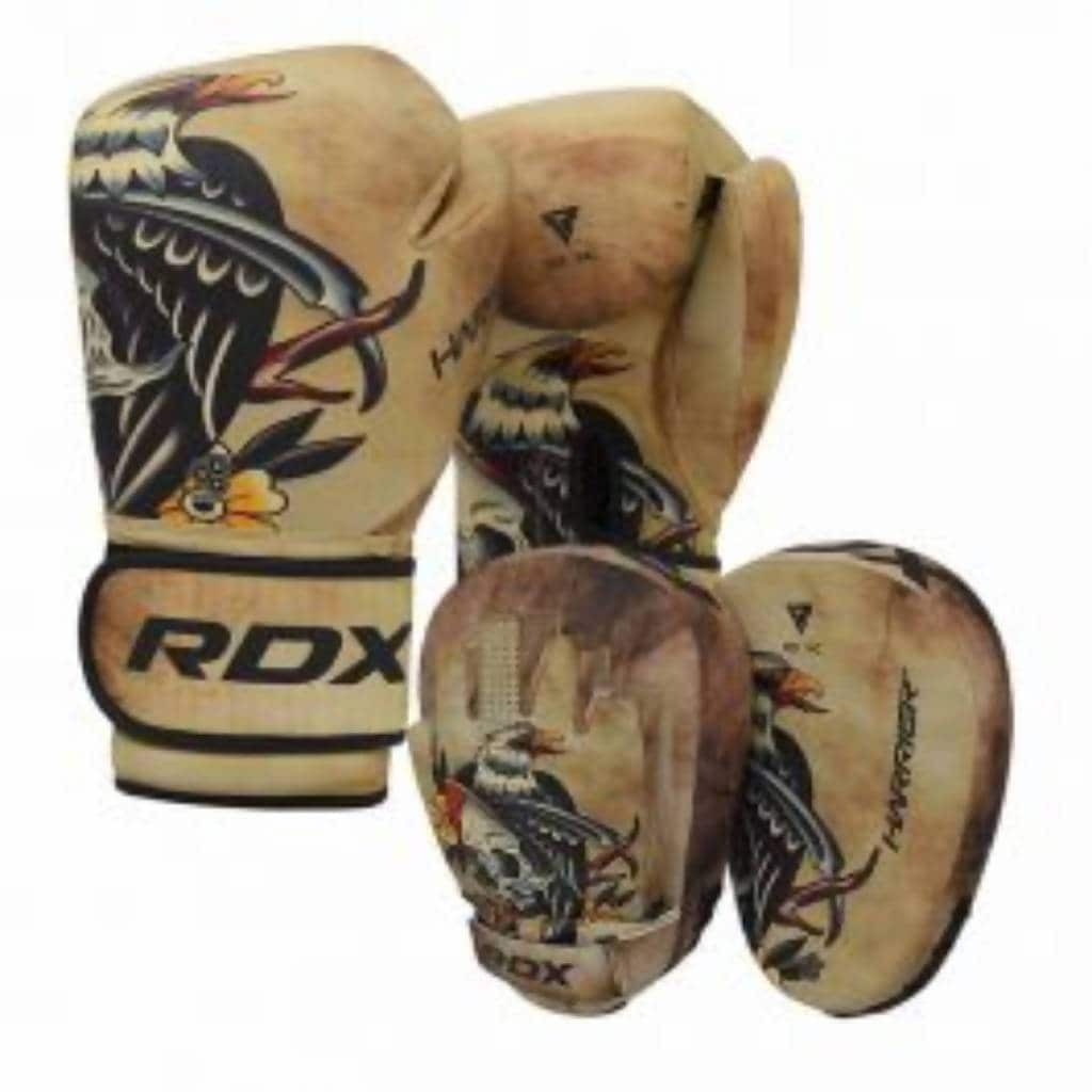 BOXING GLOVE MICRO T14T1 BROWN + FOCUS PAD MICRO T14T1