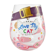 Load image into Gallery viewer, Love my Cat Wineglass