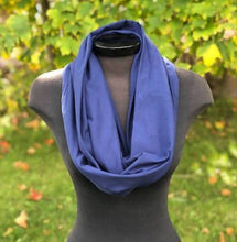 Load image into Gallery viewer, Navy Blue Infinity Scarf (Knit)