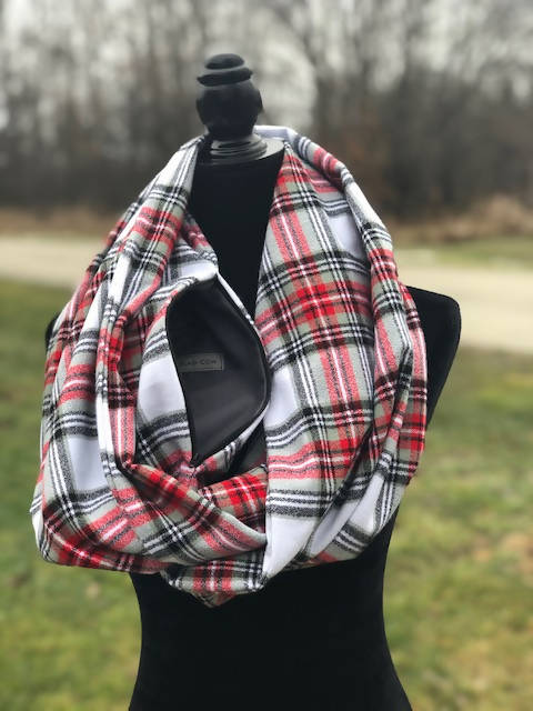 Country Classic Plaid Infinity Scarf in Flannel