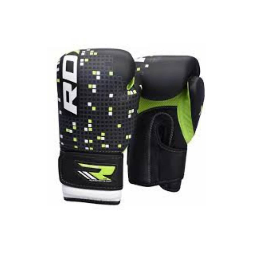BOXING GLOVE KIDS BLACK/GREEN J-3