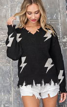 Load image into Gallery viewer, Grease Lightning Distressed Sweater