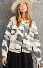 Load image into Gallery viewer, Michaela Camo Denim Jacket