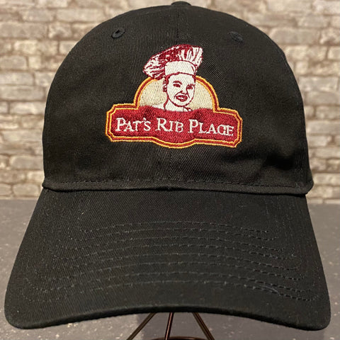 Pat's Black Baseball Cap Hat