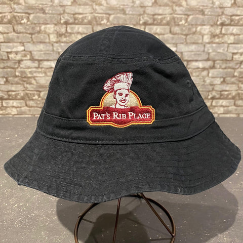 Pat's Black Bucket Hat