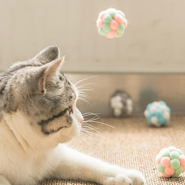 Tosa Plush Balls Cat Toy with Bell