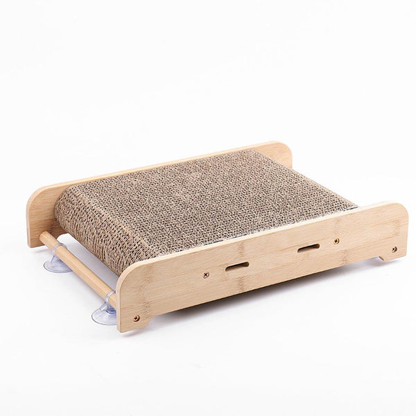 Corrugated Paper Cat Scratch Board Thicken Nest with Suction Cup for Cat Claw Grinding