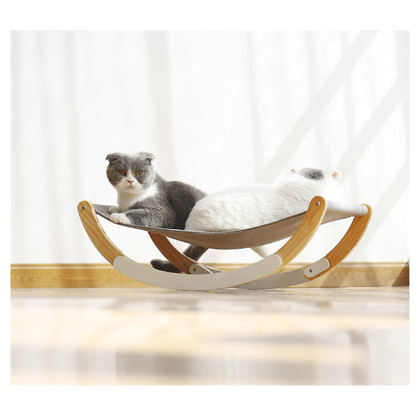 Cat Bed Soft Pet Cats Hammock Puppy Kitten Hanging Beds Mat with Durable Wood Frame for Small Pets