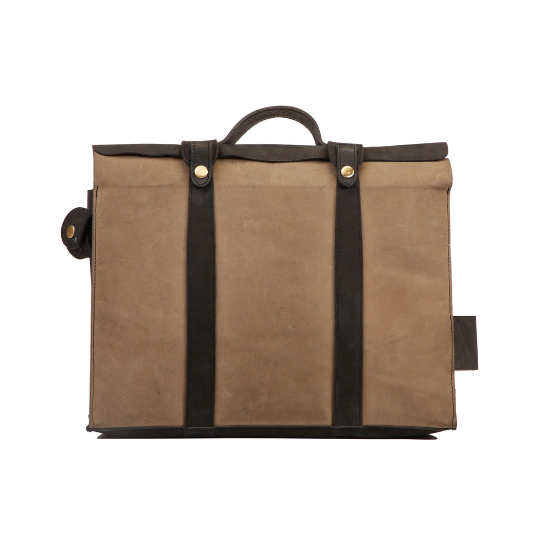 Briefcase Bag - Black Grey