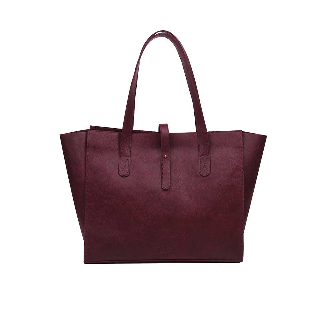 All Day Tote - Burgundy
