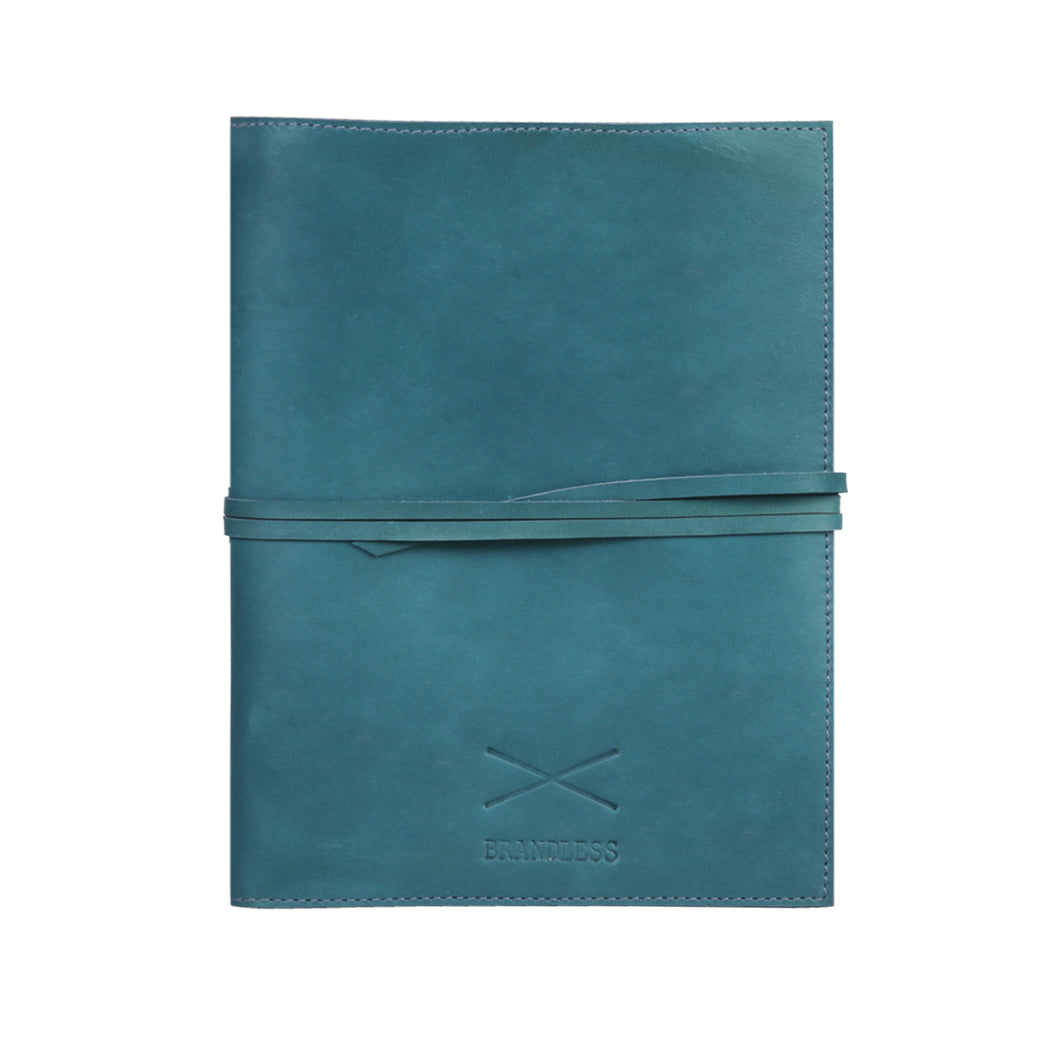 Leather Daybook - Blue