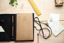 Load image into Gallery viewer, Leather Daybook - Black
