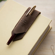 Load image into Gallery viewer, Pen Holder Bookmark - Brown