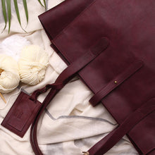 Load image into Gallery viewer, All Day Tote - Burgundy