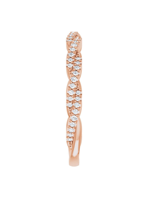 Twisted Diamond Band 1/5 ct. tw.