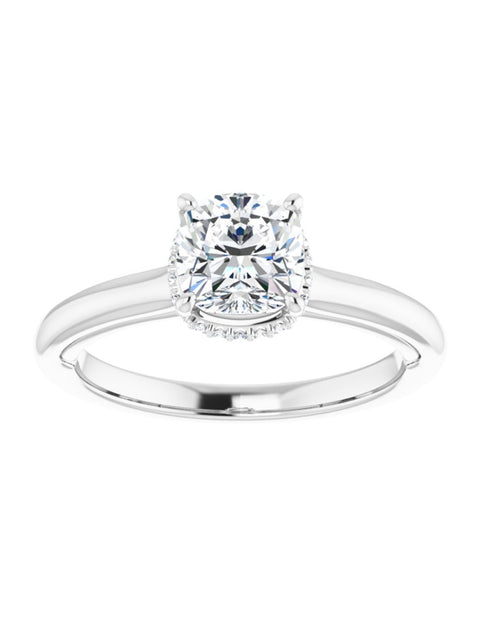 Hidden Halo Engagement Ring