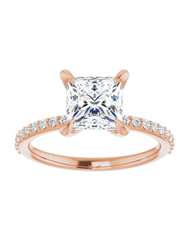 Narrow Diamond Band Classic Engagement Ring 1/5 ct. tw.