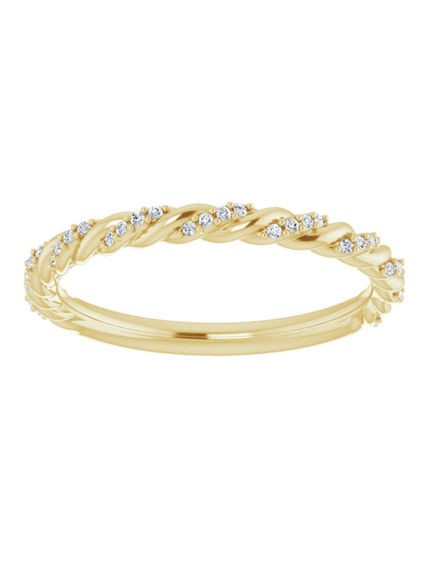 Twisted Diamond Band 1/9 ct.tw. G-H/VS-Si1