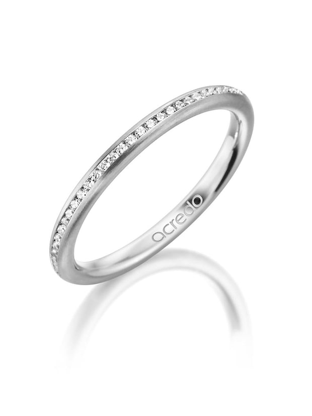 Platinum 600 2mm Eternity Band with 1/3 ct tw G/Si1