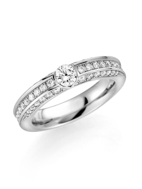 14K Palladium White Gold Diamond Band 1 1/4ct.tw. G/Si1