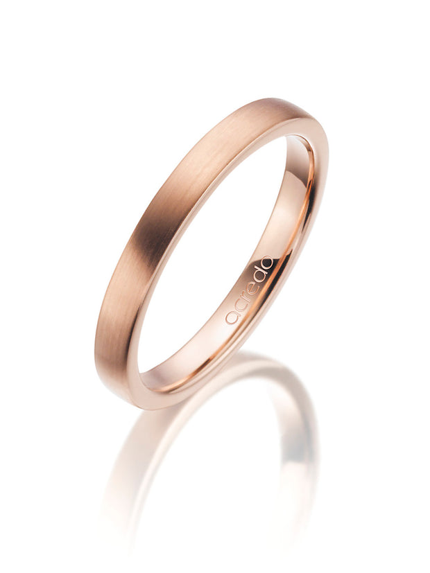 14K Red Gold Band with Matte Finish