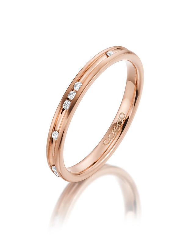14K Red Gold Diamond Band 1/10 ct. tw. G/Si1