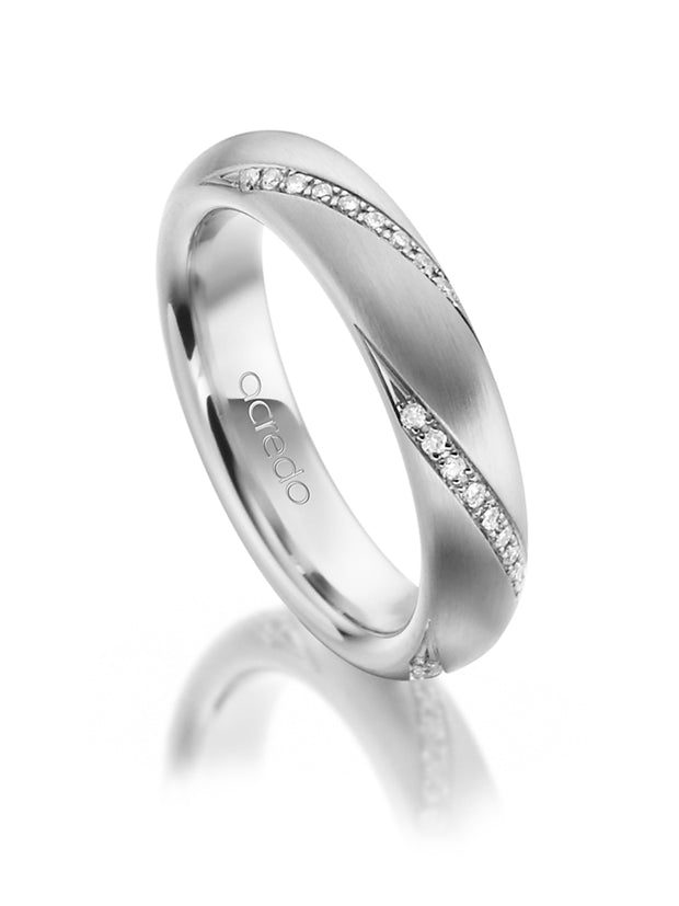 Platinum 4.5 mm Eternity Band with 1/4 ct. tw. G/Si1