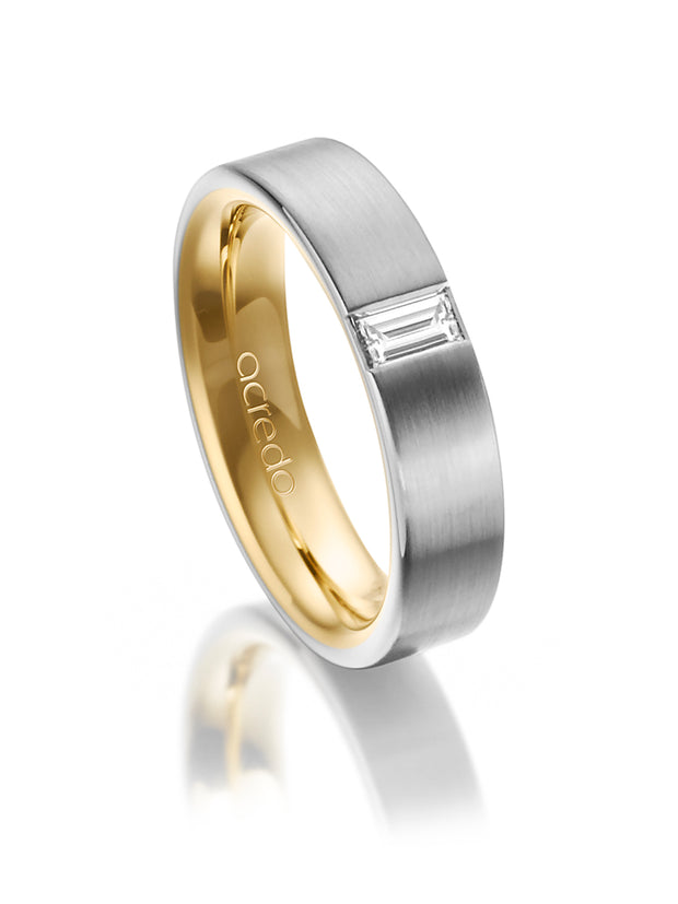 5 mm 14K Gray and Yellow Gold Band 1/4 ct. tw. G/Vs