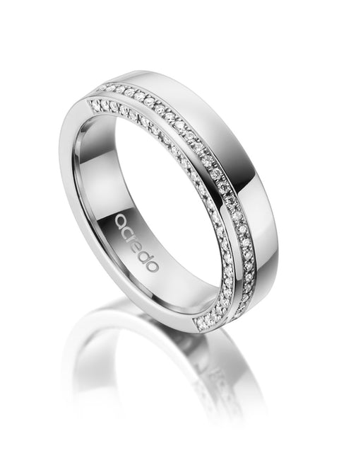 Platinum 600 Diamond Band 1/4 ct.tw. G/Si1