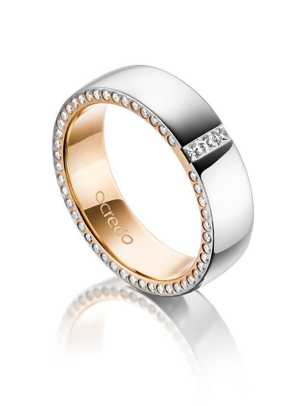 5.5 mm 14K Gray and Rose Gold Band 1/3 ct. tw. G/Si1