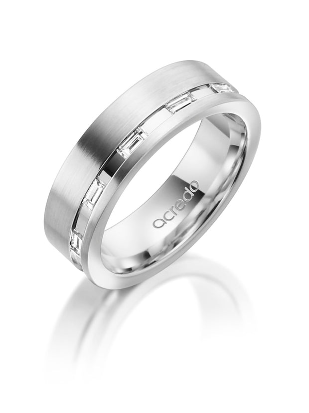 6 mm Platinum 600 Band with Baguette Diamonds 1/4 ct.tw. G/VS