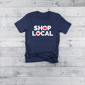 Shop Local | Navy Unisex Tee (Adult & Youth)