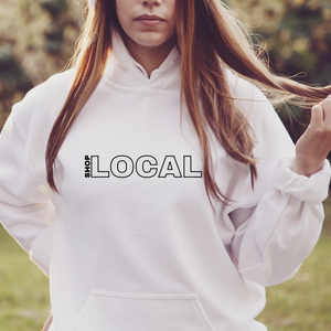 Shop Local | White Unisex Hoodie