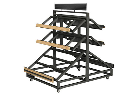 3SPD-48-2<p>3 shelf farm stand display double sided