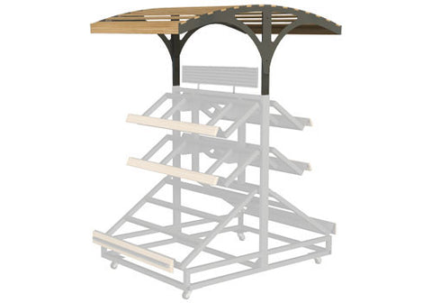 3 shelf farm stand display double canopy<p>3SPD-48-CANOPY2